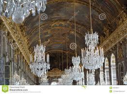 versailles chandelier the chandelier room in versailles chateu stock image image 55338067