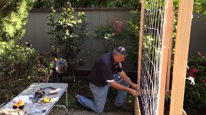 stable cable garden trellis installation youtube