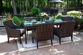 All Weather Patio Furniture Cassini Collection All Weather Wicker 6 Person Patio Furniture