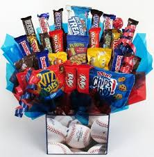 baseball gift basket grand slam baseball themed candy bouquet gift gift baskets
