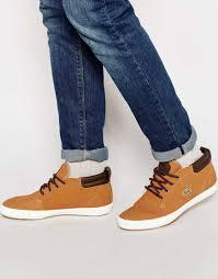 cheap men shoes lacoste ampthill shearling look chukka sneaker