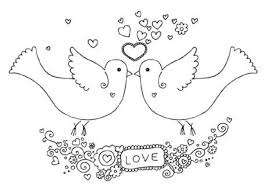 two dove valentine coloring page valentine coloring pages of
