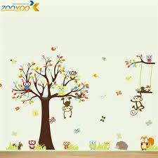 stickers arbre chambre enfant sellings singe stickers muraux pour chambres d enfants