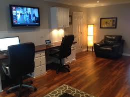 built in desks and laminate flooring from lowes allen roth