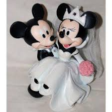 unique mickey mouse and minnie mouse wedding supplies cake
