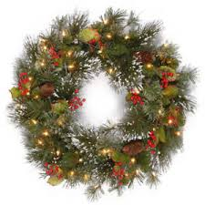 24 wreath pre lit 50 warm white led battery operated