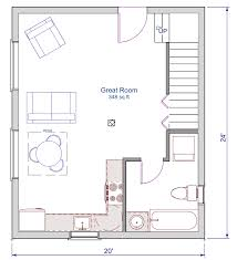 simple log cabin floor plans floor plan 24x20 sqft cottage a