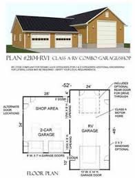 Rv Garage Floor Plans Rv Garage Apartment 012g 0052 1st Floor Plan Camper Rv