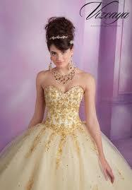 gold quince dresses quinceanera lace back dress 89015