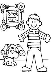 printable blues clues coloring pages birthday house blue