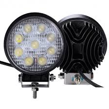 led work lights for trucks 2 pcs 27w round flood work light bar fog driving l truck tractor