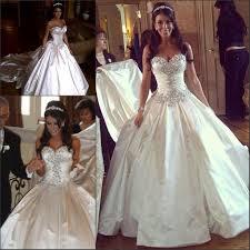 classic sparkly crystal pnina tornai wedding dresses sweetheart