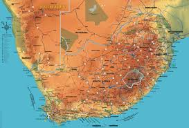 a picture of south africa map map of south africa national parks index