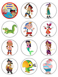 printable jake neverland pirates cupcake toppers