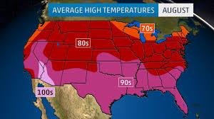 monthly average temperatures weather com