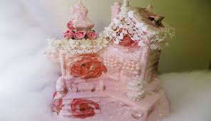 how to decoupage a christmas village house to pink shabby chic