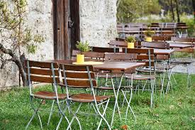 Backyard Beer Garden - free photo beer garden chairs dining tables free image on