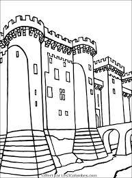 ã colorier de chateau fort avec chevaliers
