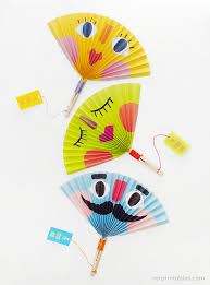 paper fan summer paper fans mr printables