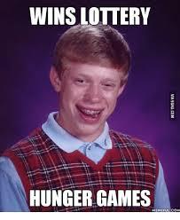 Hunger Games Meme - wins lottery hunger games memeful com lottery meme on me me
