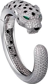cartier bracelet diamond images Crh6007517 panth re de cartier bracelet platinum emeralds png