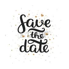 save the date save the date lettering and gold hearts for design
