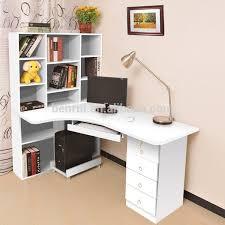corner study desk pale yellow wall color brown hickory hardwood