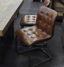 vintage leather chair perfect as a dining or office chair sturdy