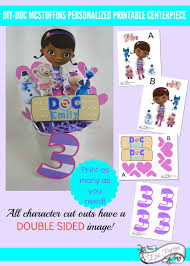 Doc Mcstuffins Home Decor Diy Doc Mcstuffins Printable Centerpiece Doc Mcstuffins