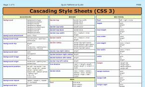 Css Tutorial Pdf For Dummies | css3 cheat sheet html5 css3 javascript pinterest web