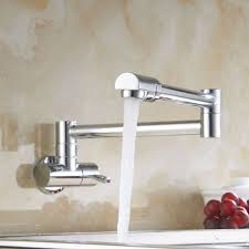 wall mount faucets kitchen eyekepper brass kitchen wall mount single handle pot filler faucet
