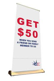 vinyl banner liberty tax service get 50 cash