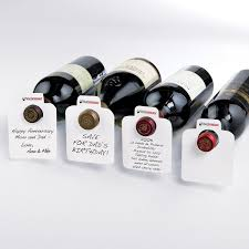 Anniversary Wine Bottles White Reusable Wine Bottle Tags Wine Enthusiast