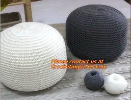 Ottoman Knitted Pouf Ottoman Knitted Pouf Straw Cushion Tatami Mat Cushion Pad