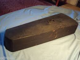 wooden coffin antique wooden coffin box for a violin or fiddle ebay