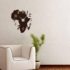 Wohnzimmer Uhren Wanduhr Wandtattoo Wandaufkleber Uhr Wanduhr Afrika Karte Zahlen Deko Für