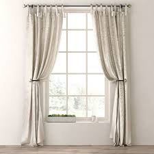 Tie Top Curtain Panels Luster Silk Tie Top Drapery Panel 3d Model Cgtrader