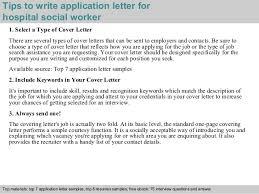 social work cover letter 2 hospital social worker application letter