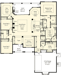 ranch floor plans with basement plan 33075zr master retreat options mud rooms ranch