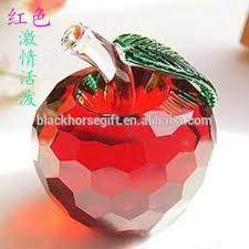 Christmas Decoration For Car by Diamond Cut Crystal Apple Figurine Apple Shape Decoration For Car