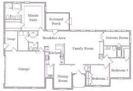 House Floor Plans Single Story Crafty Inspiration 12 Single Story Ranch House Floor Plans