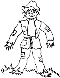scarecrow coloring pages getcoloringpages