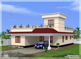 indian house design front view design of house front view sq feet flat roof villa elevation home