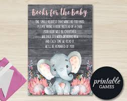 baby shower bring book instead of card elephant books for baby insert baby shower book request card