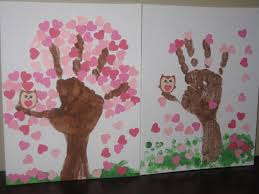 valentine u0027s tree handprints kara u0027s favourite crafts