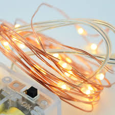 Starry String Lights Amber Lights On Copper Wire by Fantado 20 Warm White Led Copper Wire Micro Strand Fairy String