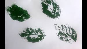 leaf print technique for kids easy simple leaf printing for