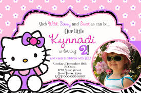 2nd Birthday Invitation Card Hello Kitty Birthday Invitation Cimvitation