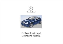 manual mercedes benz c 230 kompressor sportcoupé c class