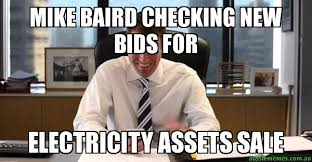 Electricity Meme - mike baird checking new bids for electricity assets sale
